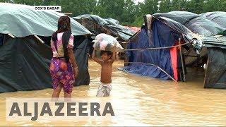 Rohingya refugees struggle to survive torrential rains in Bangladesh - ALJAZEERAENGLISH