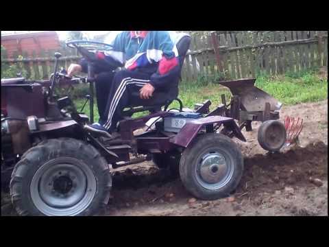 Как сделать трактор из двигателя от мотоблока