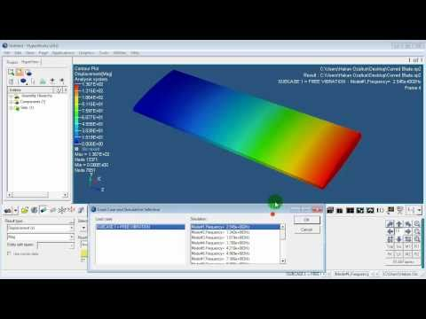 Hypermesh 09 - Curved Blade - Modal Analysis