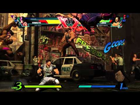 Hawkeye vs. Strider - Gameplay - ULTIMATE MARVEL VS. CAPCOM 3