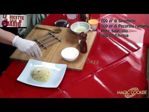 Spaghetti Cacio e pepe preparati da Dario con Magic cooker