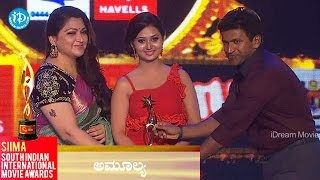 SIIMA 2014    Best Actress in Critics, Kannada    Amulya - IDREAMMOVIES