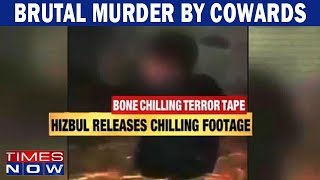 Bone chilling terror tape: Hizbul Mujahideen releases chilling footage - TIMESNOWONLINE