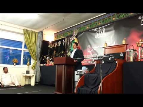 Al Murtaza Trust, Zakir Syed Nadeem Shah reciting on 3/4 Shabaan 2013 Part 1 of 2