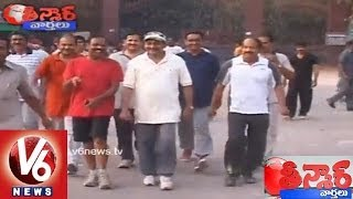 Ex CM Kiran Kumar and Politicians Caught in K.B.R Park - Teenmaar News - V6NEWSTELUGU