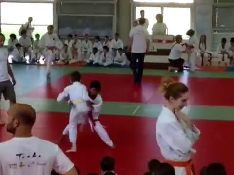 Sean fighting Judo