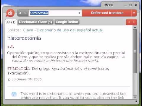 Definición de histerectomía