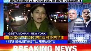 India-U.S to sign deal to end WTO stalemate - NEWSXLIVE