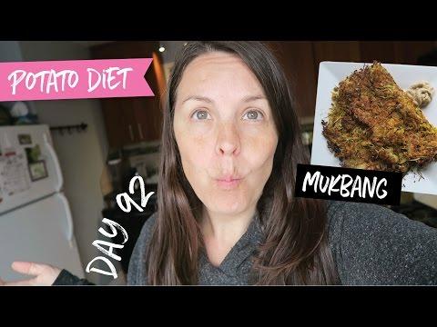 Hash Browns Mukbang & Potato Diet Vlog    Day 92