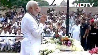 स्मृति स्थल पर पीएम मोदी ने अटल जी को अंतिम श्रद्धांजलि दी - NDTVINDIA