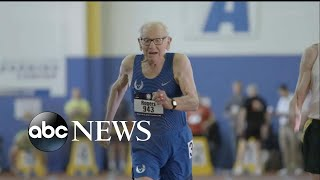 Centenarians break world records at track meet - ABCNEWS