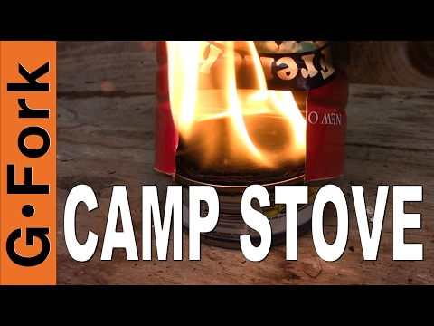 Camp Cooking with a Tin Can Camp Stove - GardenFork