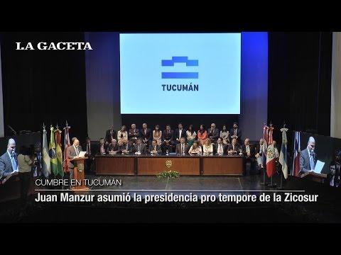 El gobernador Juan Manzur asumió la presidencia pro tempore de la Zicosur