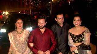 Saif Ali Khan | Kareena Kapoor Khan | Dia Mirza At Aamir Khan's Grand Diwali Party - HUNGAMA