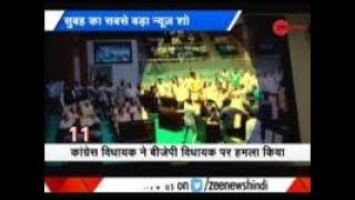 Morning Breaking: 3 Congress MLAs suspended over ruckus in Gujarat Assembly - ZEENEWS
