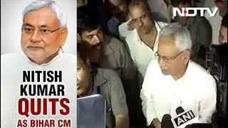 Nitish Kumar Resigns As Bihar Chief Minister - NDTVINDIA