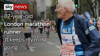 London's oldest marathon runner - SKYNEWS