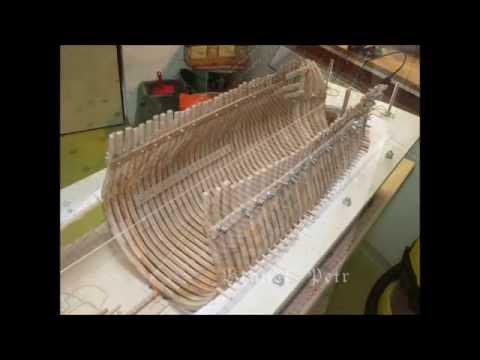 Historic ship model building Le Fleuron 1729