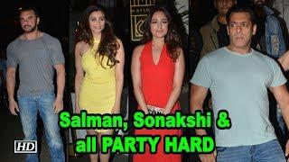 Salman, Sonakshi PARTY HARD at Zaheer Iqbal's Birthday Bash - IANSINDIA