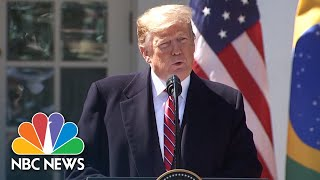 Watch live: Trump holds news conference with Brazilian president - NBCNEWS