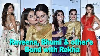 Raveena, Bhumi & other's Bond with Rekha - IANSLIVE