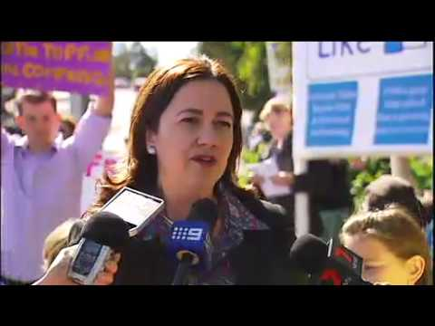 Qld State school protests spark political rebuff & consultancy on closures has been outsourced