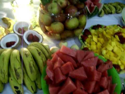 Mesa de frutas - Festa havaiana