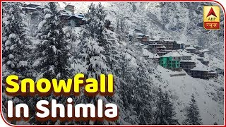 Fresh Snowfall In Himachal Pradesh's Shimla | ABP News - ABPNEWSTV