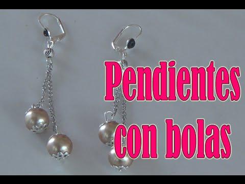 Pendientes con bolas- Bisuteria en español