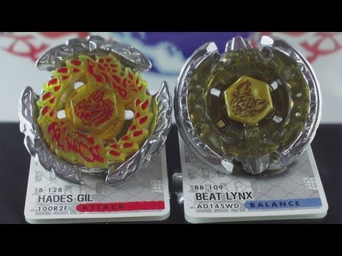 EPIC Battle Beat Lynx AD145WD VS Hades Gil 100RF (Beyblade Metal Fury Hasbro) HD! AWESOME
