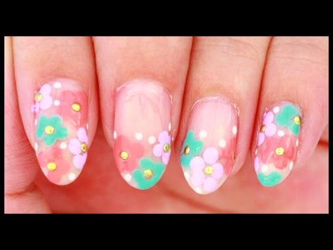 Simple Spring Flowers nail art