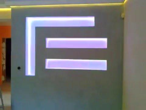 zabudowa karton gips, taśma LED