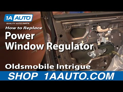 How To Install Repair Replace Broken Power Window Regulator Olds Intrigue 98-02 1AAuto.com