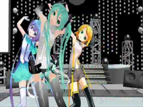 [MMD] Miku, Rin & Aoki Two Faced Lovers