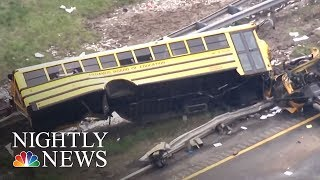 At Least 2 Dead, Many Injured In New Jersey School Bus Crash | NBC Nightly News - NBCNEWS