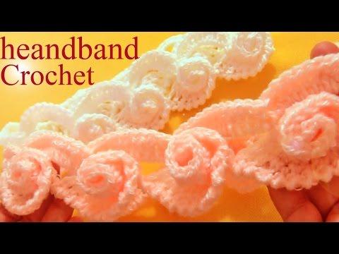 Aprende Como tejer una diadema a Crochet en punto de arabescos  - Learn Crochet
