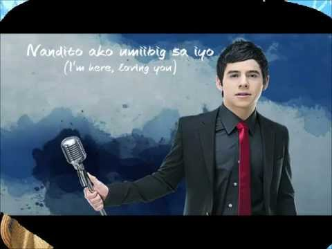 David Archuleta - Nandito Ako w/ English Translation and Lyrics on screen