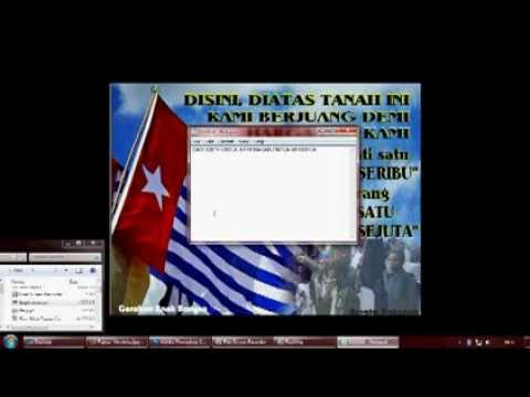 screen saver Papua Merdeka (1 Desember 2013)