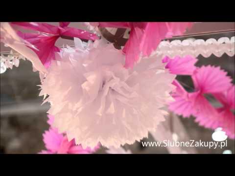Tania i ładna ozdoba wesela: dekoracje papierowe, bibułowe, girlandy