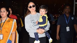 Kareena Kapoor Khan and Taimur Ali Khan return from their London getaway - TIMESOFINDIACHANNEL