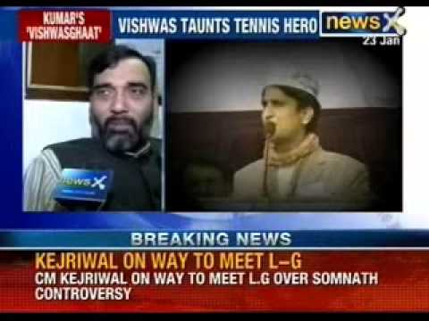 News X: Watch Kumar Vishwas ridiculing Sania Mirza and Shoaib Malik