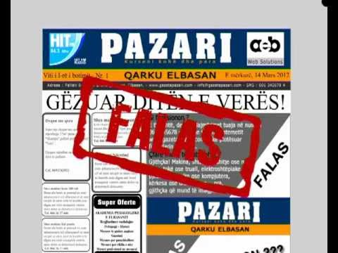 Gazeta Pazari - Elbasan - Reklama - Advertising