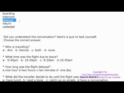 English Conversation with Key words and quiz - At the Airport