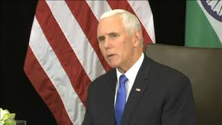 14 Nov, 2018 - Pence, India's Modi discuss denuclearization of Korean peninsula - ANIINDIAFILE