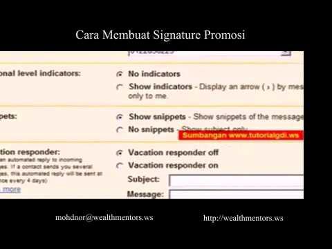 Cara Membuat Signiture Promosi