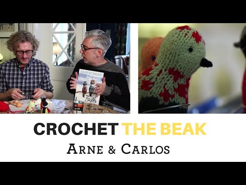 How to crochet the beak of our Knitted Birds by ARNE & CARLOS