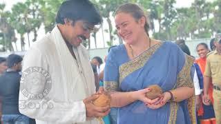 Pawan Kalyan With His Wife Anna Lezhneva At New House Bhoomi Pooja - RAJSHRITELUGU