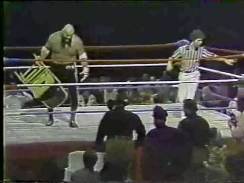 70s WWA Ox Baker vs Tiny Hampton Westling Matches