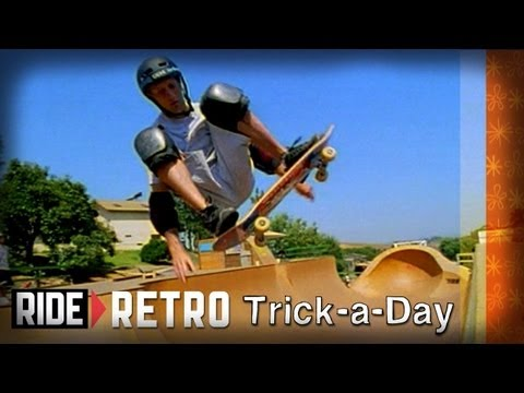 How-To Ollies on Mini Ramp with Tony Hawk, Riley Hawk & Colin McKay - Retro Trick-a-Day