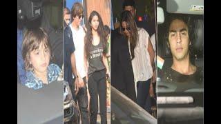 In Graphics: Shah Rukh Khan attends Ambani School annual function with Aryan, Abram, Suhan - ABPNEWSTV